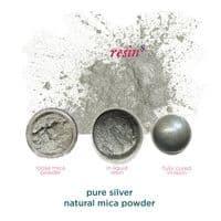 Natural Mica Powder - Pure Silver